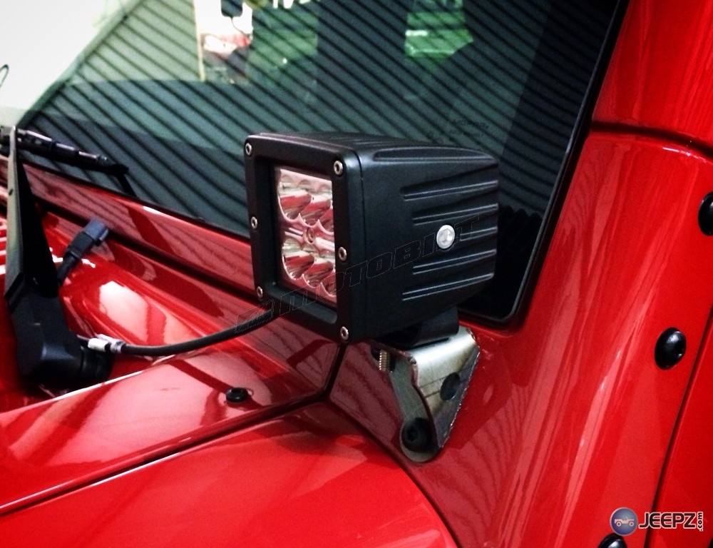 Jeep Dothan Al Jeep JK LED Cube Windshield / A-pillar Mounts