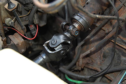 Replacing the lower steering shaft bearing and steering gear coupling on a CJ-dsc_0073.jpg