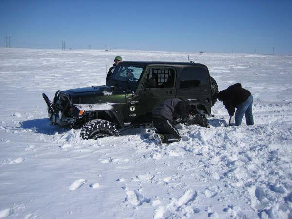 snow wheelin'