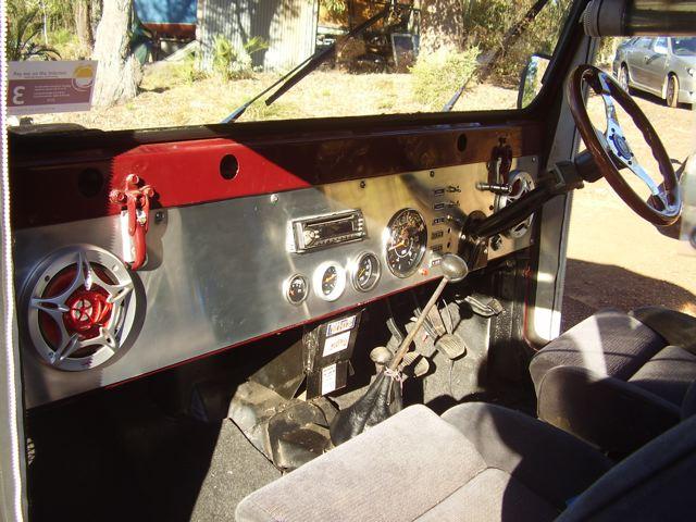 CJ5 Brushed Aluminum Dash