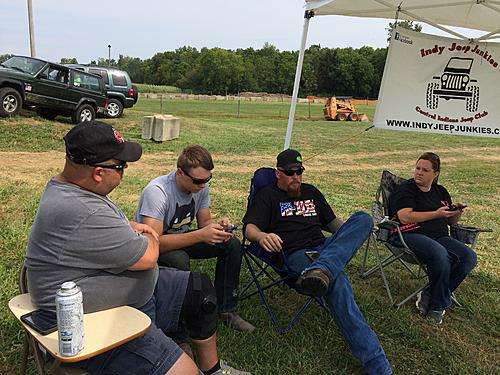 Waiting for the Jeep Frenzy to start up in Lebanon, IN 8/25/15