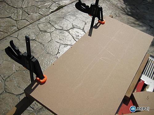 Subwoofer inside of a Jeep Wrangler rear seat-glue_and_clamp_jeep_wrangler_subwoofer.jpg