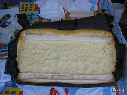 Subwoofer inside of a Jeep Wrangler rear seat-remove_foam_3_wrangler_subwoofer.jpg