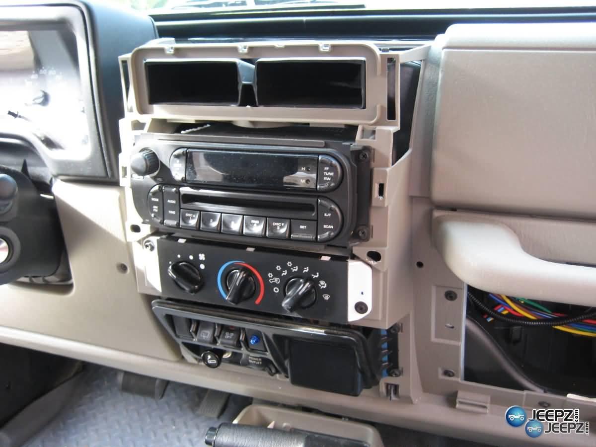 Radio install on a wrangler