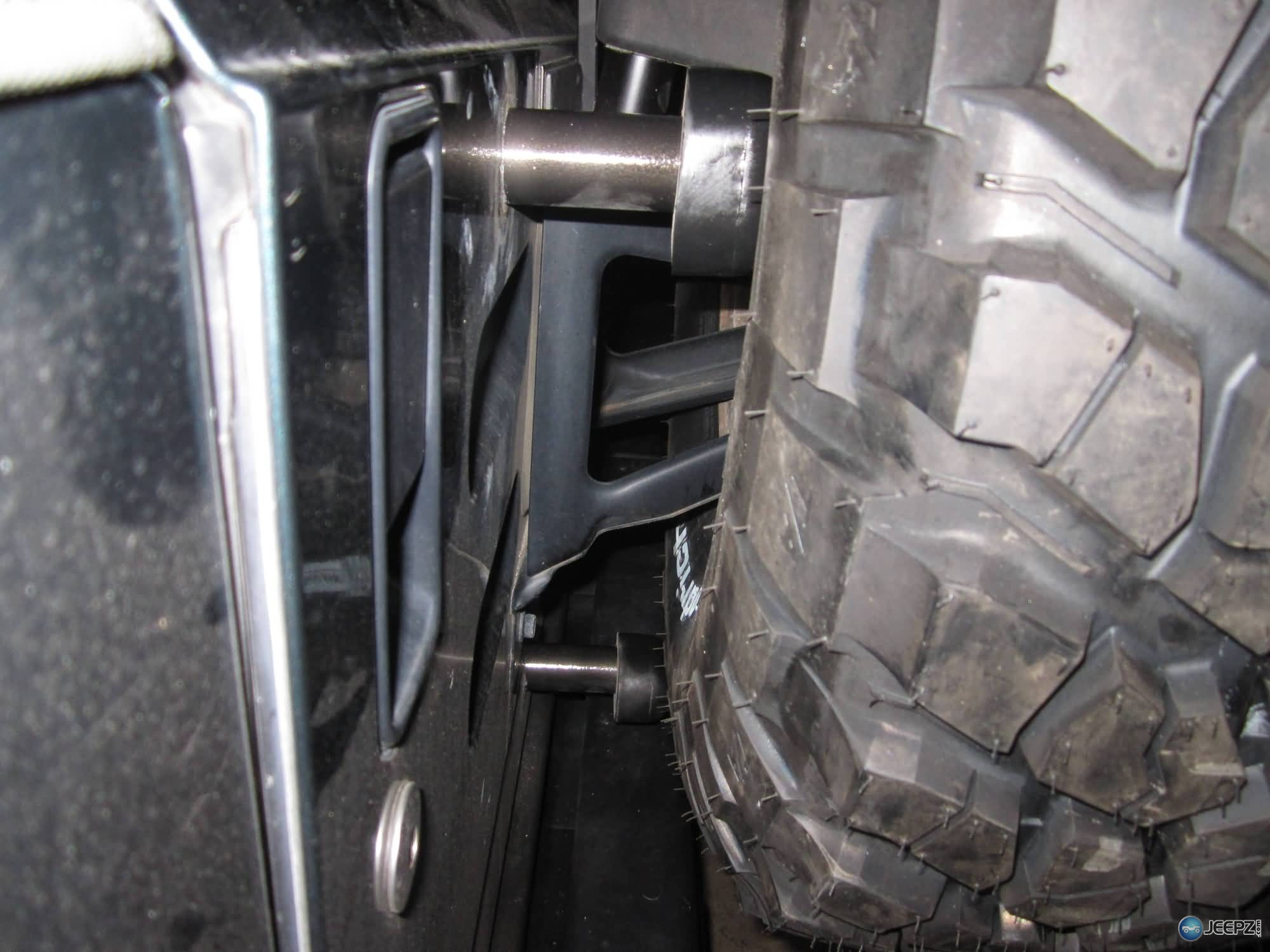 Extended Wrangler Spare Tire Bump Stops