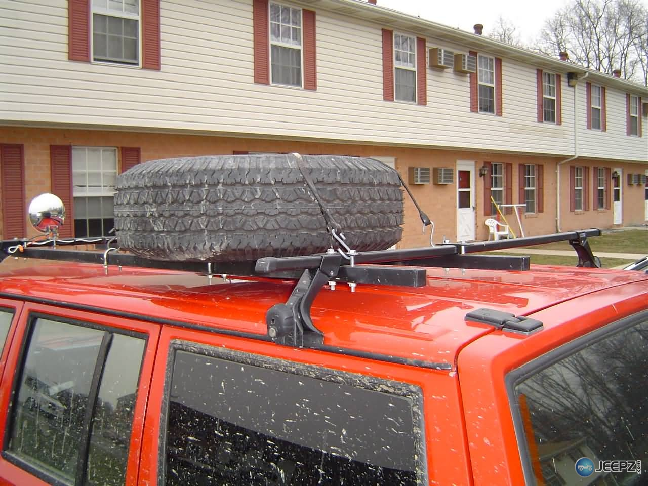 Thule Roof Rack With Home Made Spare Tire Carrier