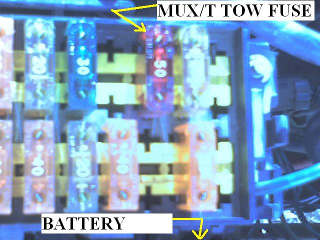 Mux  T Tow Fuse Draining Battery