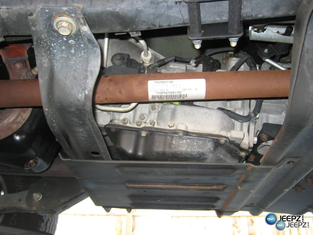 Jeep Wrangler automatic transmission fluid and filter change