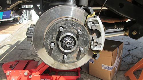 Wrangler TJ wheel hub / bearing assembly replacement-19-install-brakes.jpg