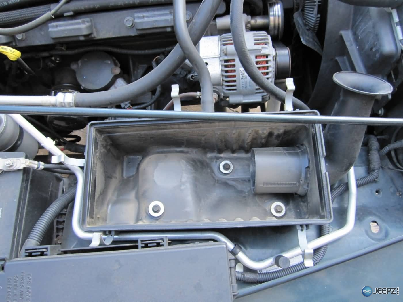 D Install Cold Air Intake Jeep Wrangler Tj Remove Air Box Bolts on Jeep Wrangler Horn Location