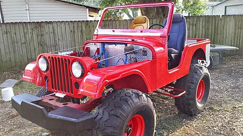 1972 Jeep CJ-5 Project with complete Fiberglass tub and ...