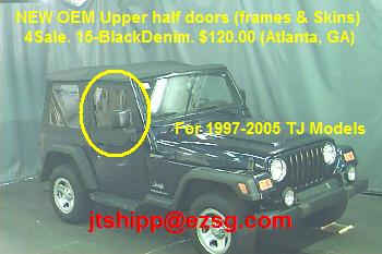 SOLD!! JEEP WRANGLER Upper Half Doors (TJ OEM NEW) - ATLANTA-1997-05tj_wranglerdoors4sale.jpg