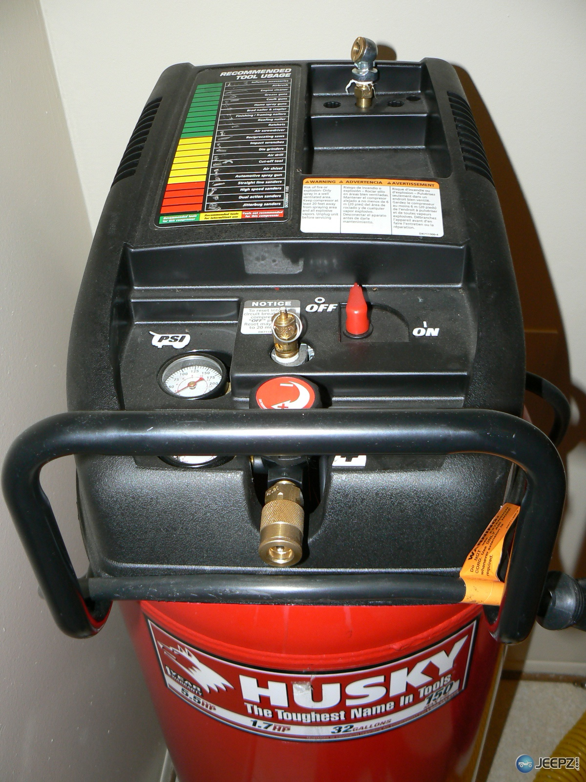Husky 5 5hp Peak Air Compressor With Almost New Tool Set