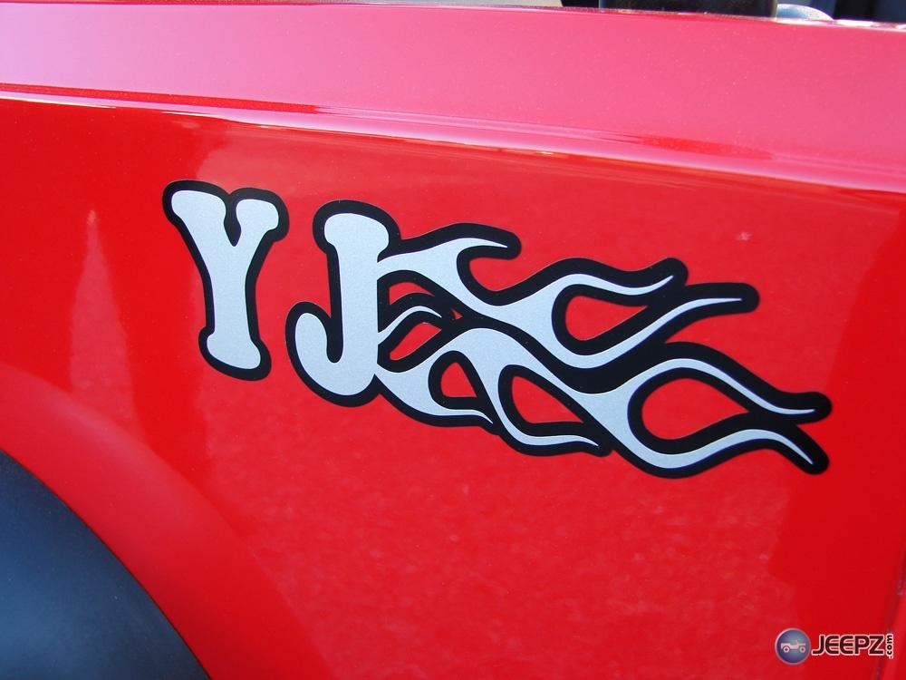 Jeep YJ Single Color Amp 2 Tone JEEP Overlay Vinyls