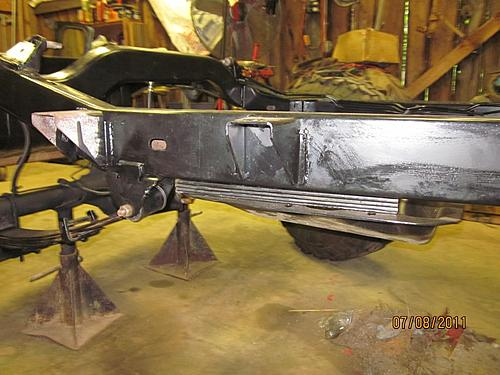 76 CJ5 Restoration-frame-tranny-support-drop-4-speed.jpg
