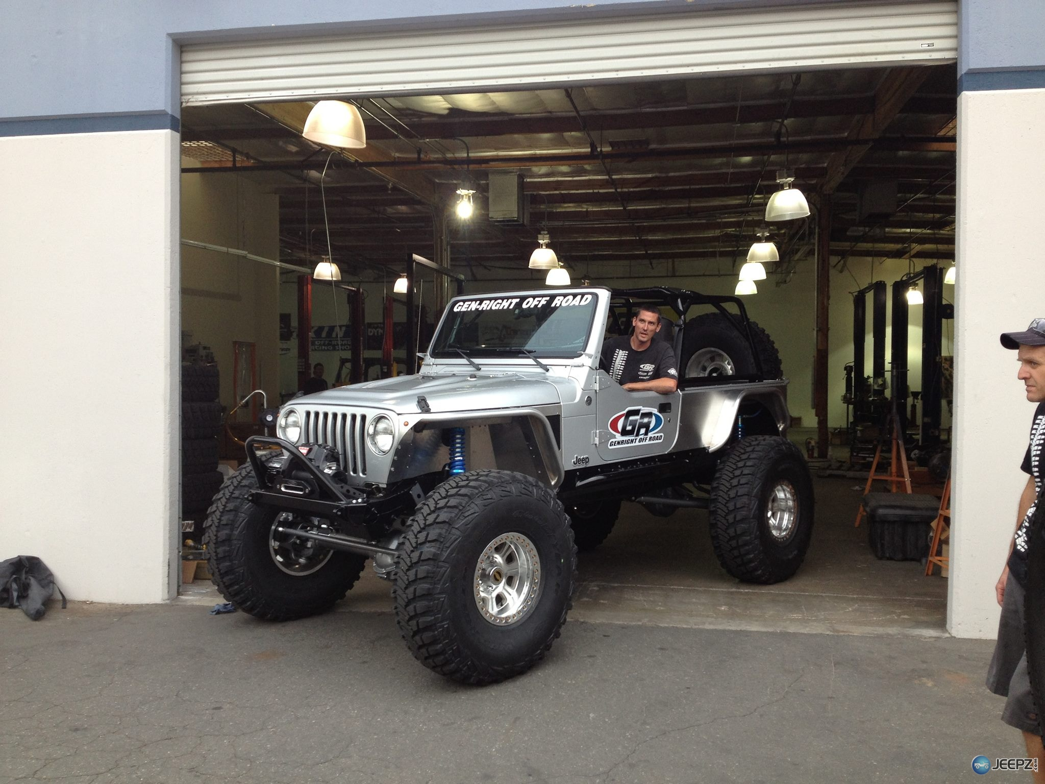 Jeep Wrangler Tj Build >> GenRight Off-Road STRETCHED a Silver LJ on 42s!!