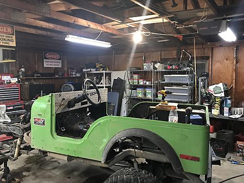 My 0 CJ7 build-cage-windshield-off.jpg