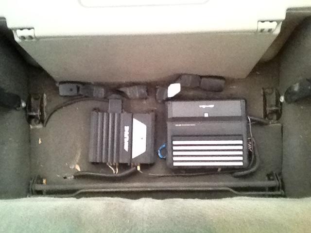 Under Rear Seat Amp Install