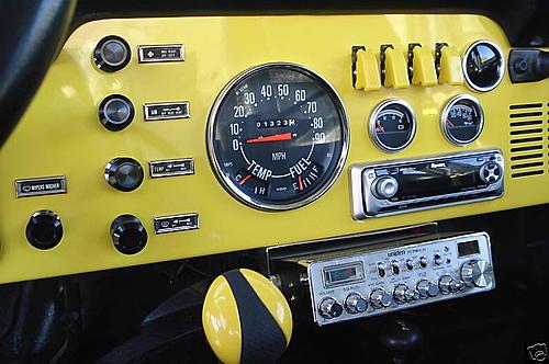 Ideas On Cj7 Din Radio Install