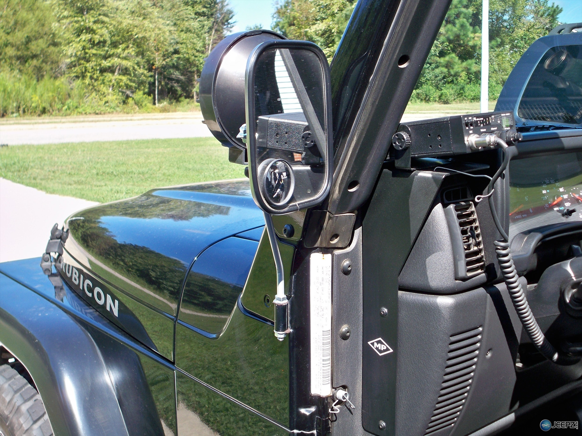 Wrangler Tj Cb Radio Wiring Jeep Installation Wire Where Do You Have Your Mounted Mirror Resize
