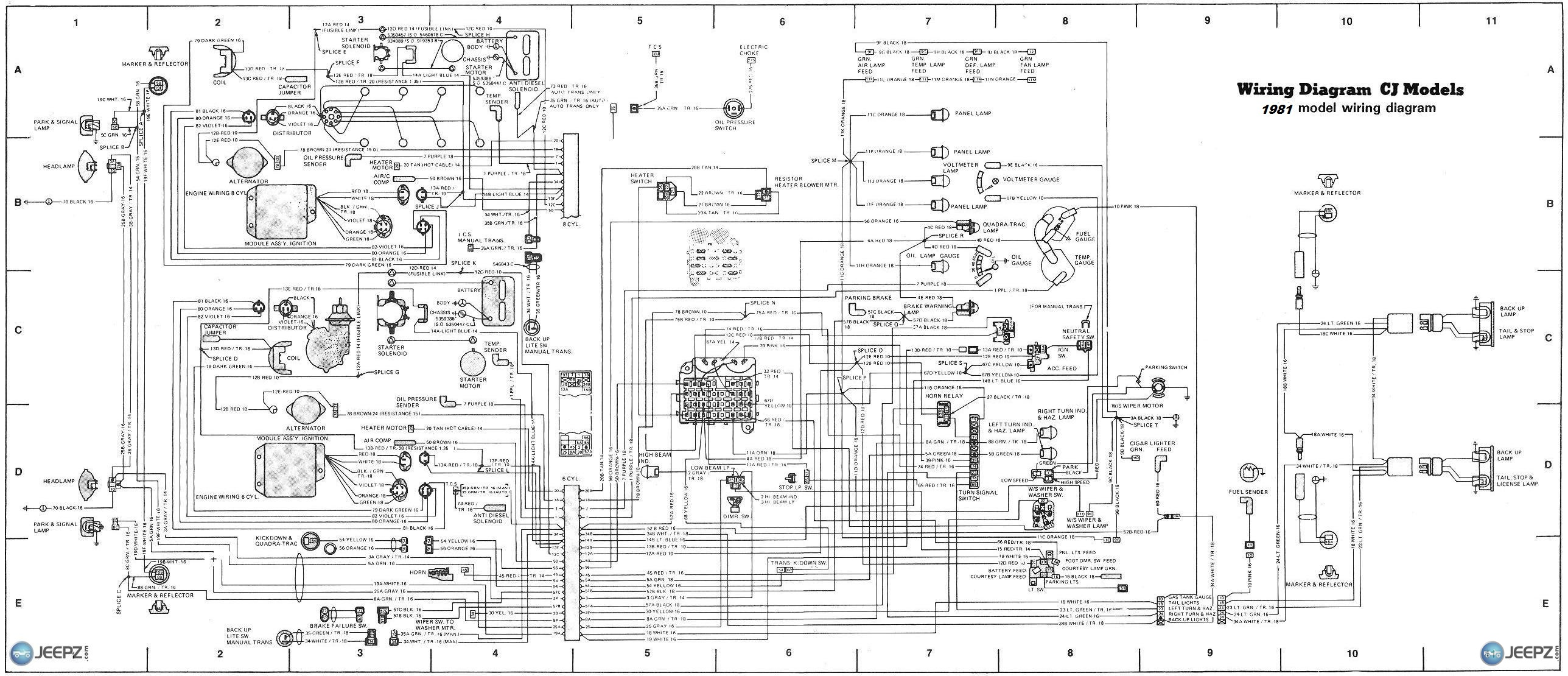 cj 7 wire diagram Basic Headlight Wiring Diagram Chevy Headlight Wiring  Diagram