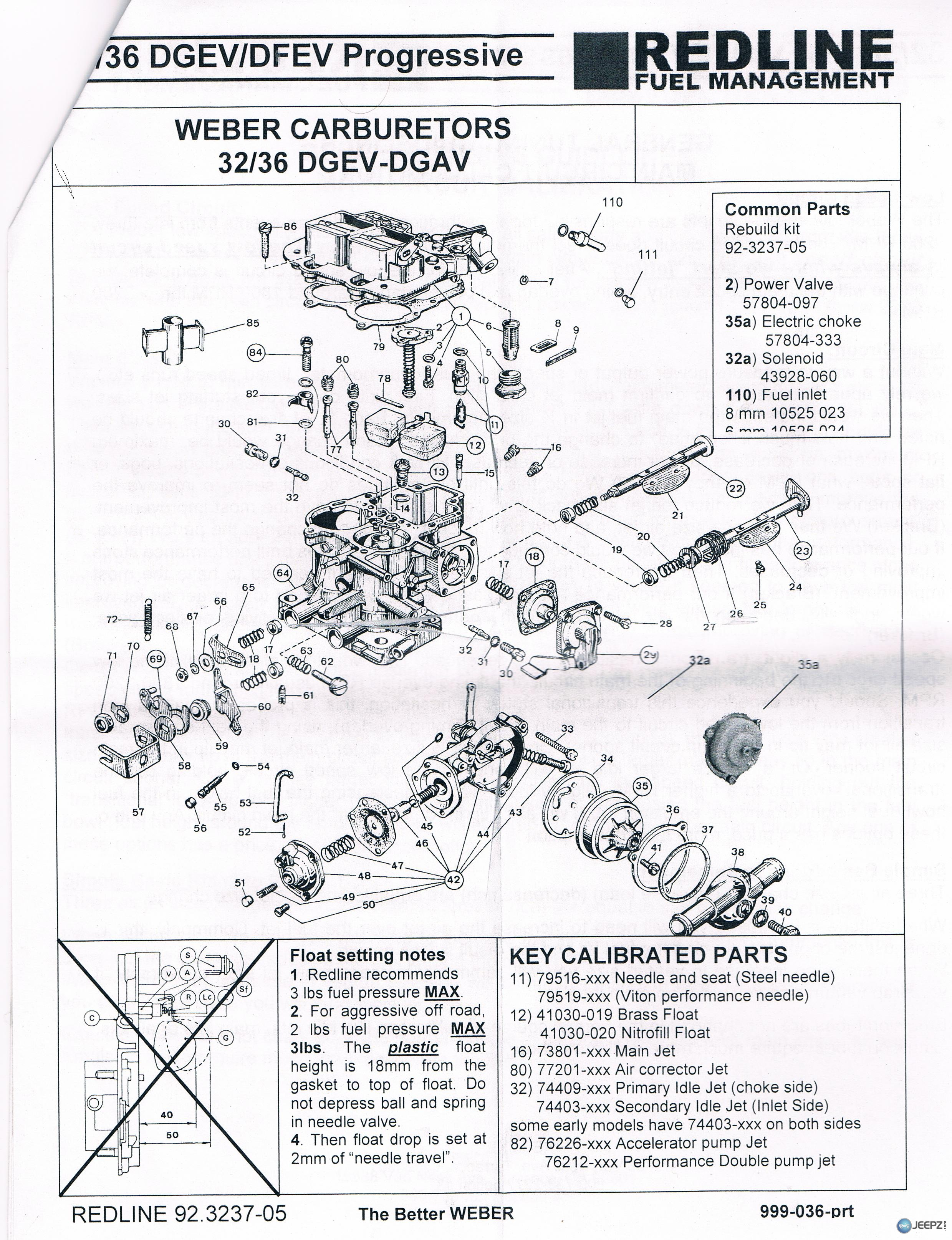 42037 Weber 32 36 Dgev Carburator 2 on jeep carburetor diagram