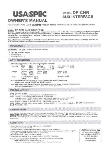 USASpec's aux input device (Ipod to Jeep adapter)-usaspec.pdf
