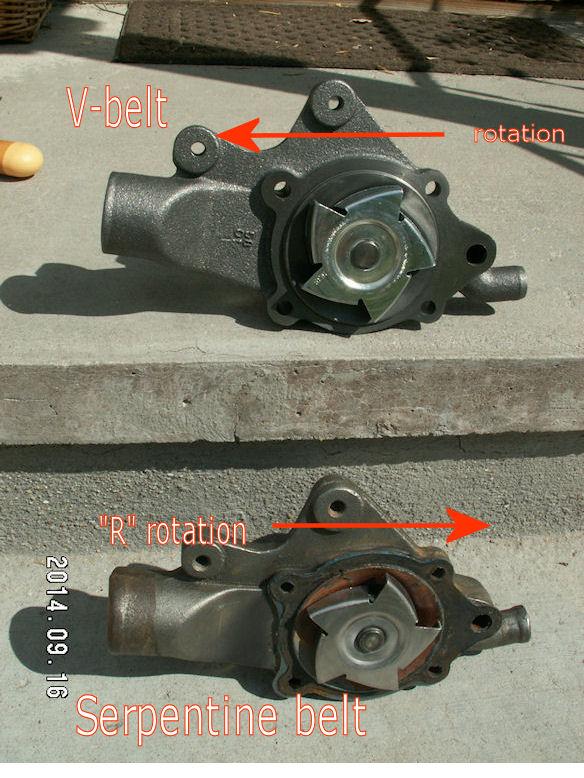 D Water Pump Engine Jeep Waterpump on Serpentine Belt Diagram