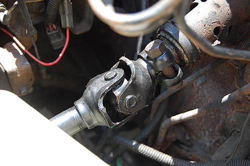 Replacing the lower steering shaft bearing and steering gear coupling on a CJ-dsc_0025.jpg