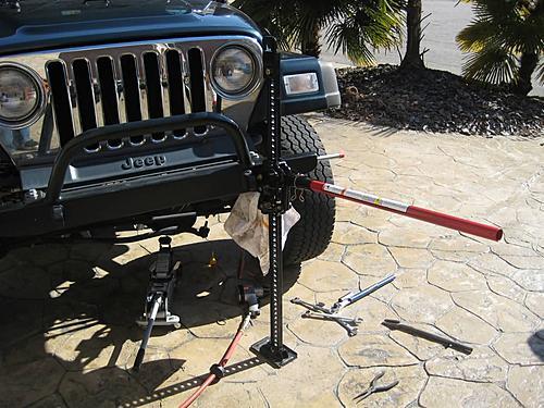 Jeep Control Arm Install-jacking-up-jeep.jpg
