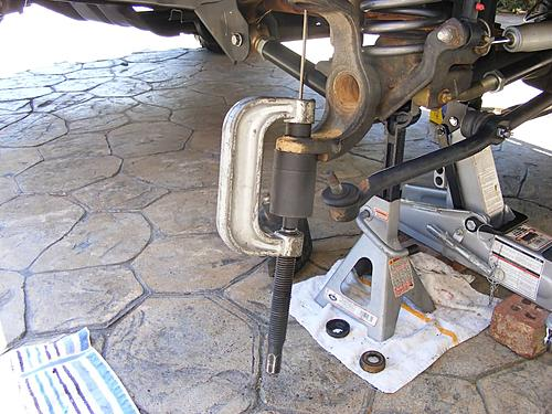 Jeep Wrangler Ball Joint Replacement-13-pressing-out-lower-ball-joint.jpg
