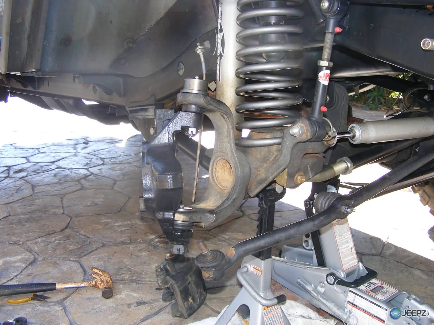Jeep Wrangler Ball Joint Replacement Finished Steering Knuckle on Jeep Front End Suspension Diagram