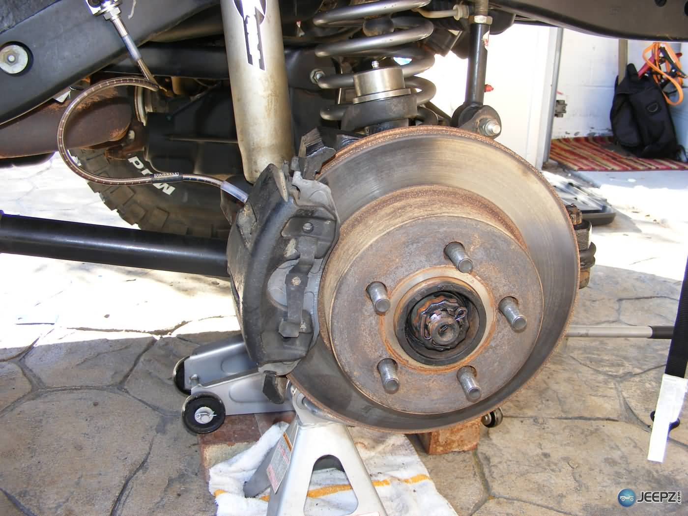 D Jeep Wrangler Ball Joint Replacement Brakes Reinstalled