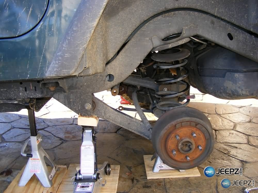 """Coil Spring Spacer Lift Kit >> Lift your TJ - installing a Rubicon Express 2"""" coil spacer kit"""