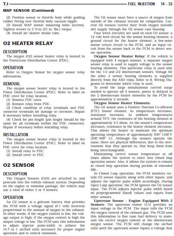 2005 Tj O2 Sensor And Exhaust Question