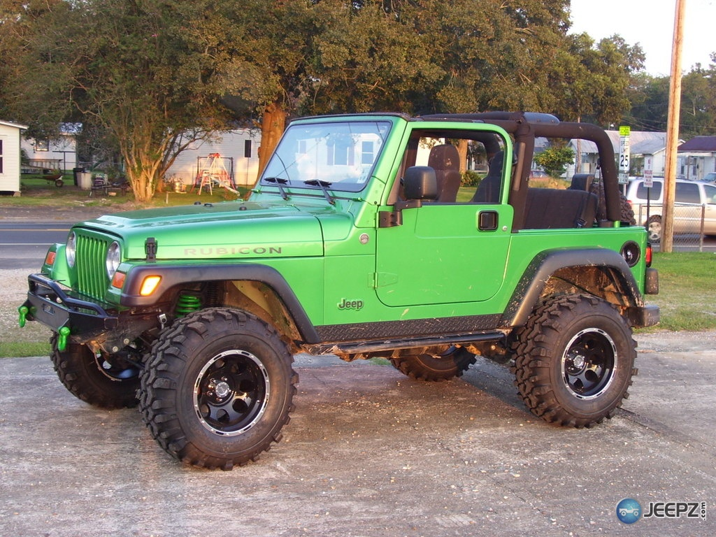 lime green jeep - HD 1024×768