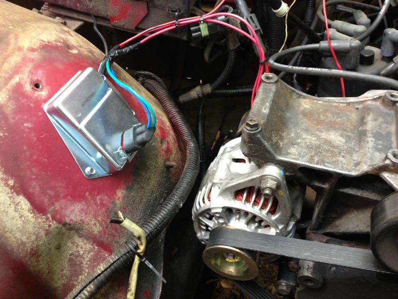 D Voltage Regulator Image on 2013 Jeep Grand Cherokee Battery Location