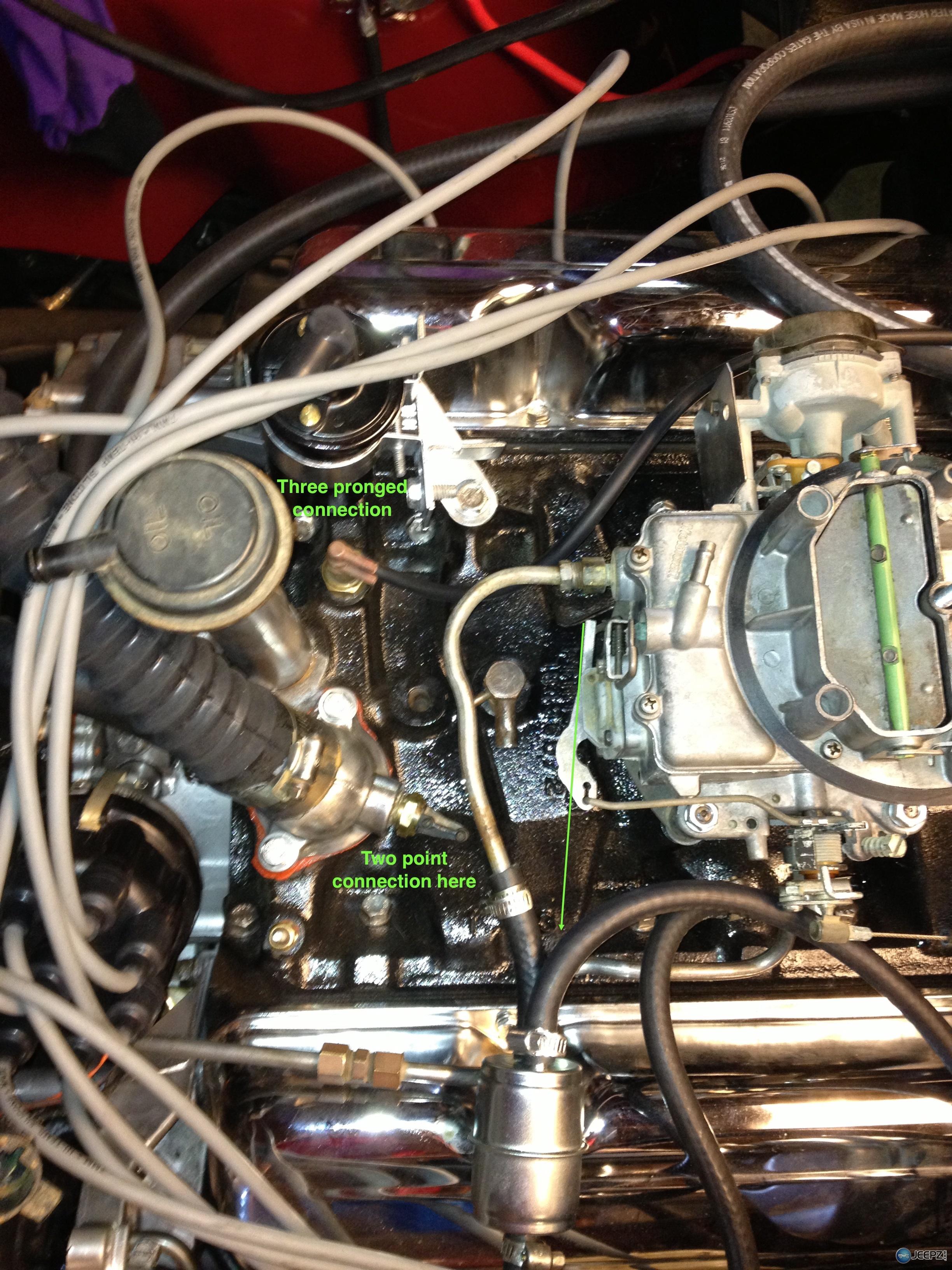 304 V8 Fuel And Vac Lines Underhood