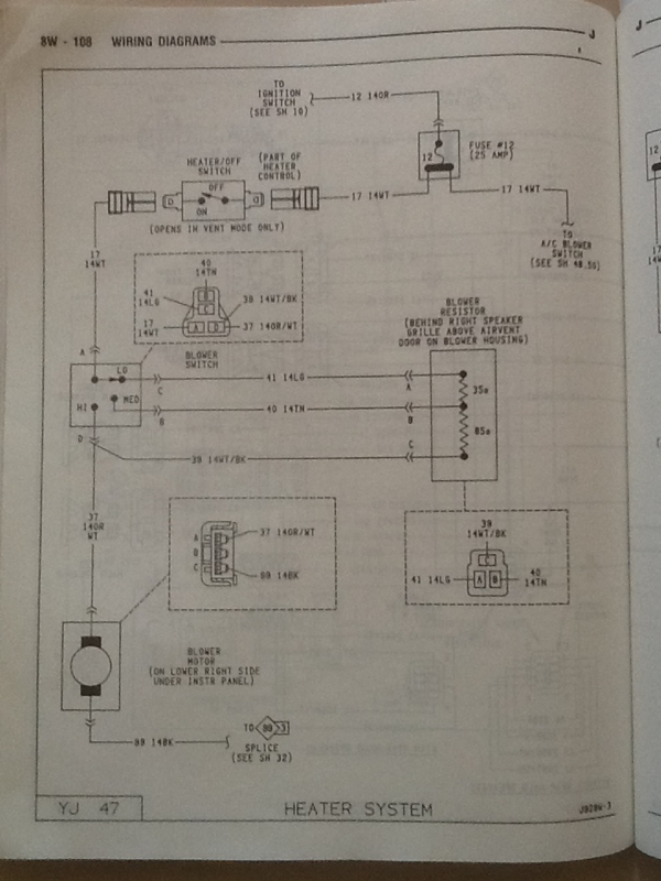 Yj heat blower not working.: jeep yj heater wiring diagram at sanghur.org