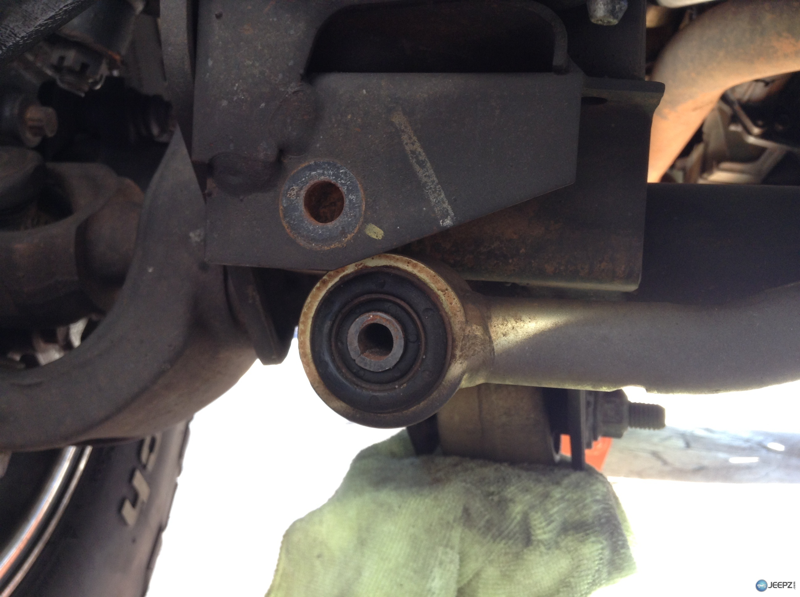 Front Trackbar Bolt Looks Loose As In Bolt Too Small For