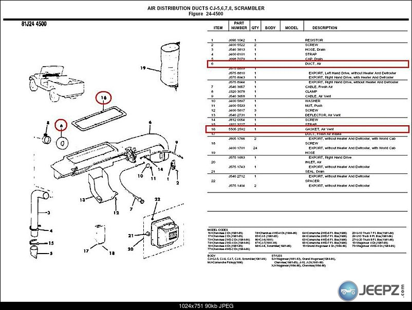 jeep cj7 heater box diagram html