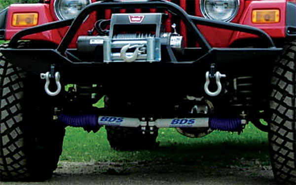 dual steering stabilizers for tj