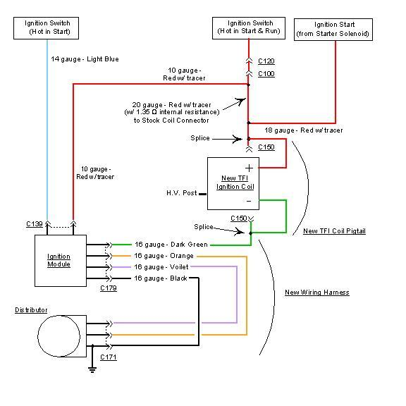 25554 Need Help Tfi Upgrade Nutter Bypass on ford distributor diagrams