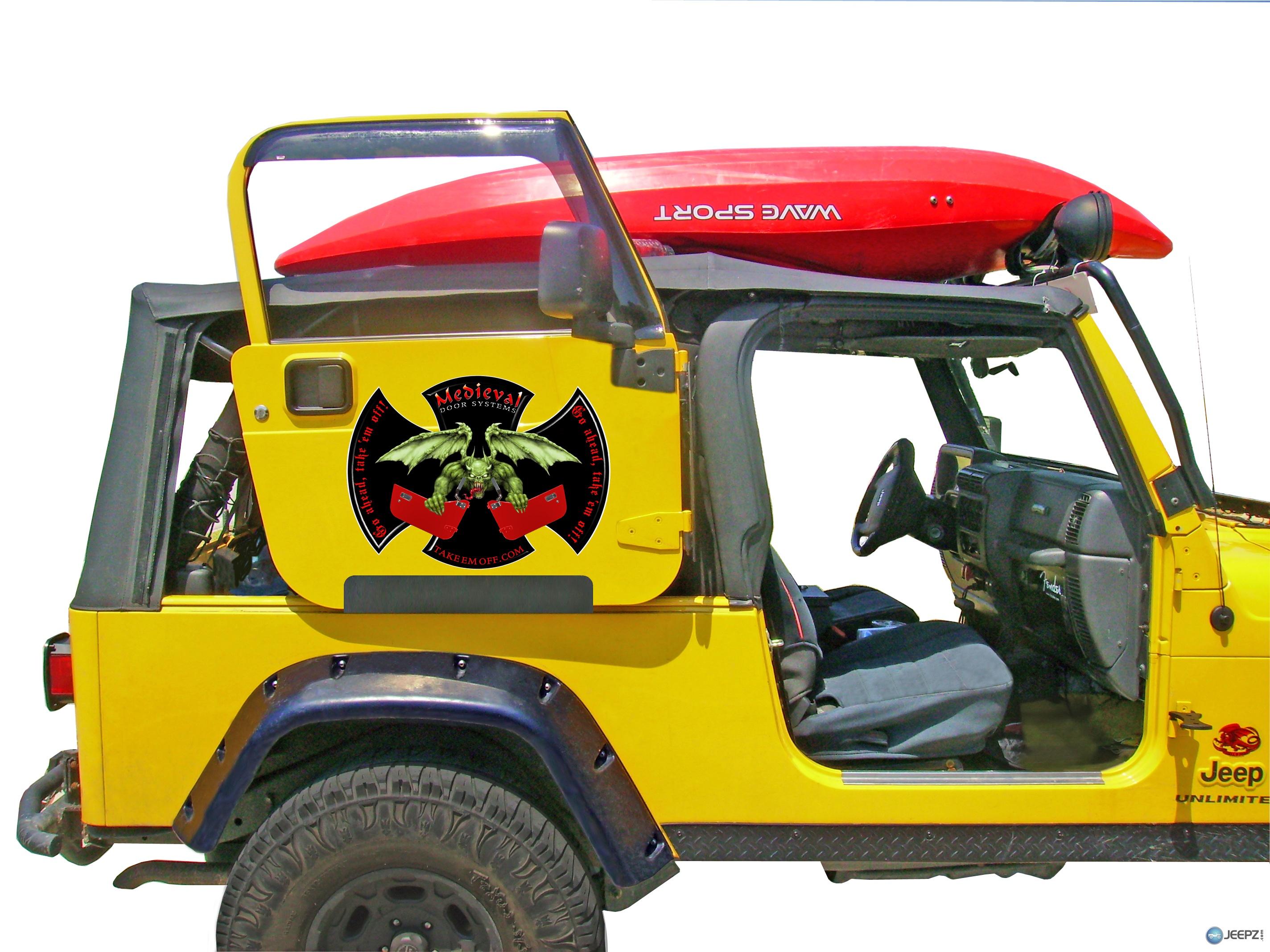 Door Rack For All Soft Top 2 Door Jeeps