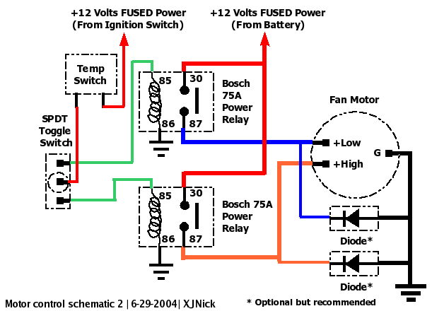 11878 Electric Fan on 3 position switch wiring schematic on center