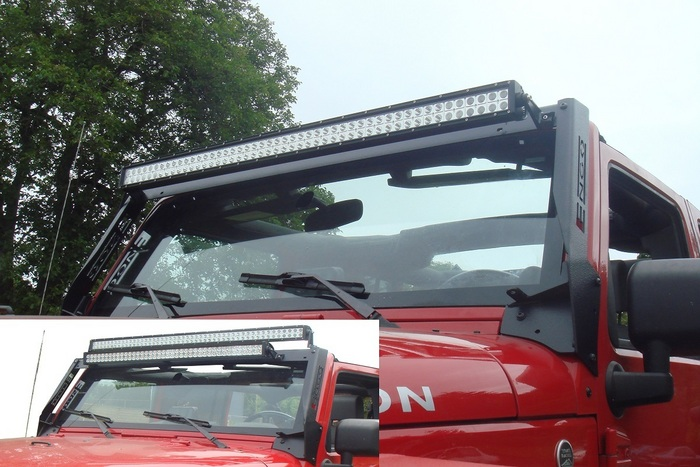 Jk led light bar multi mount free shipping made in the usa aloadofball Image collections