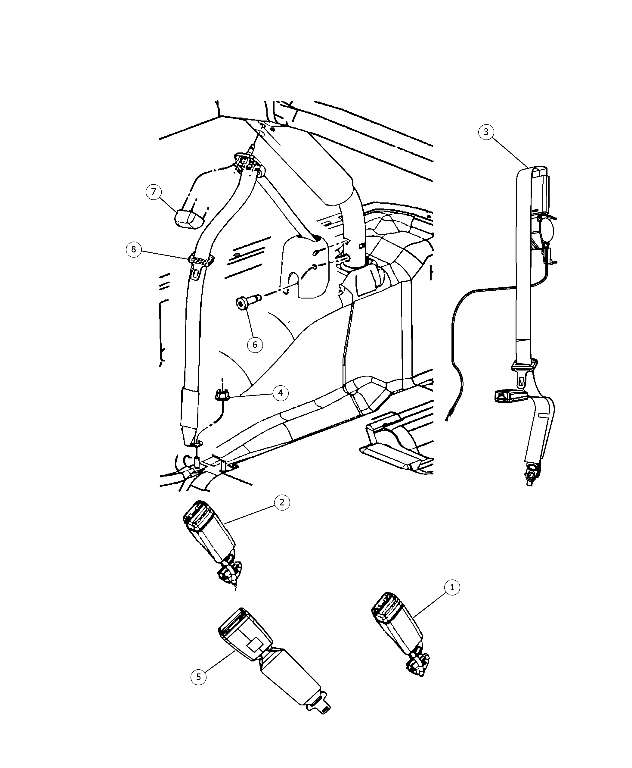 Jeep Jk Seat Belt Components Diagram