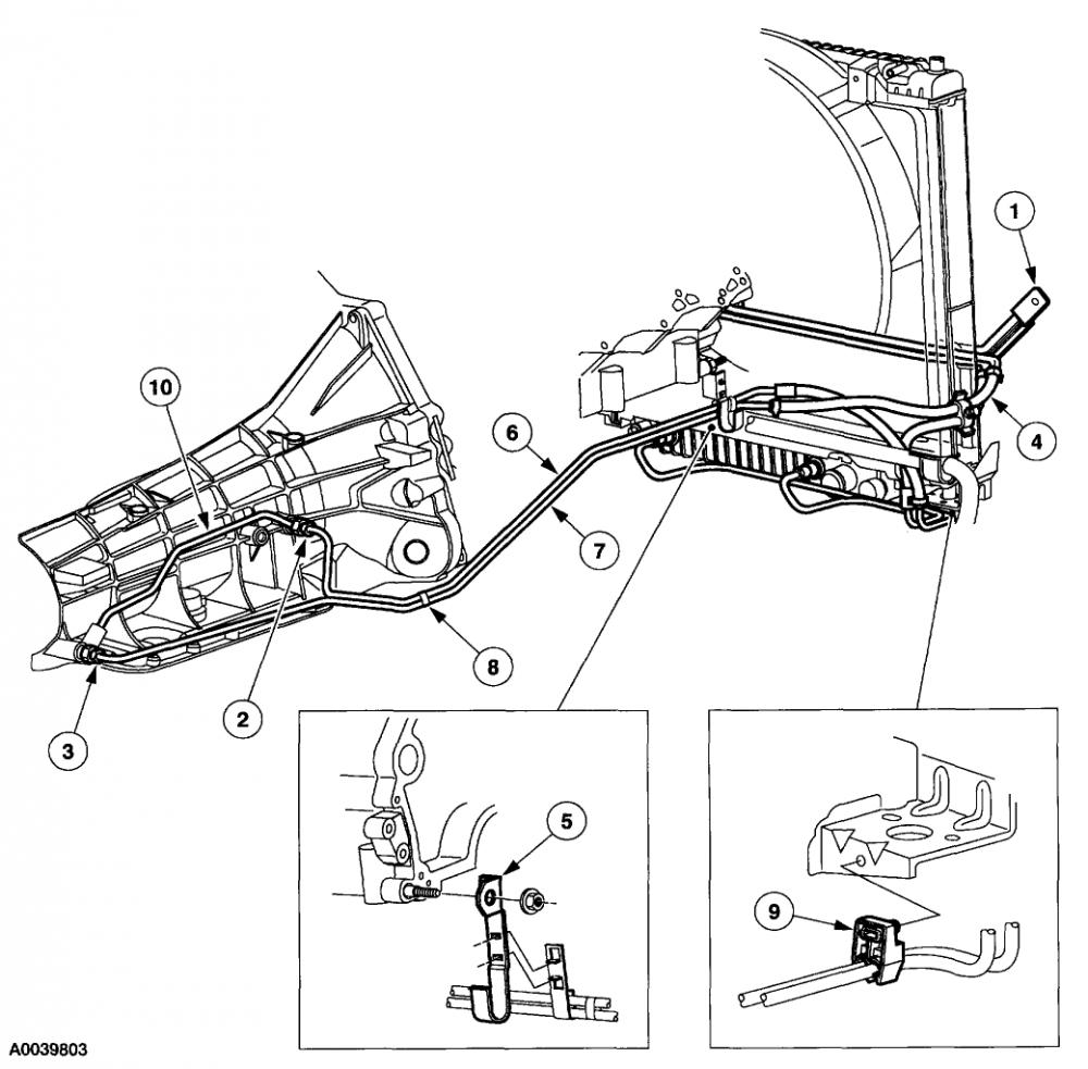 2001 jeep cherokee transmission cooling lines diagram