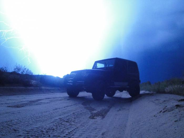 YJ with lightning