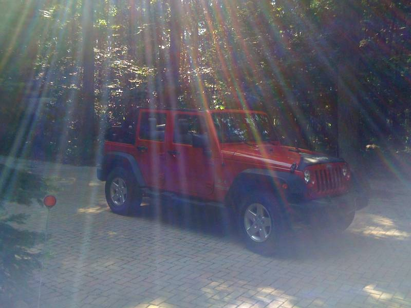 my red jeep wrangler unlimited 09